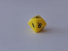 Würfel - W10 - gelb